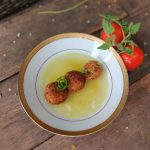 Italian Arancinis in Tomato Consomme